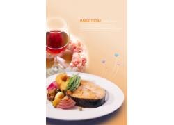 韩国风味鱼美食海报PSD分层素材