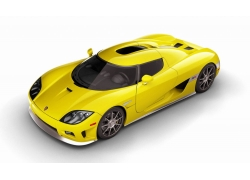 一辆崭新的黄色跑车特写高清图片