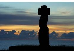 复活岛石像风景图片