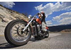 豪华高档摩托车摄影高清图片