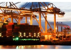 集装箱船摄影高清图片