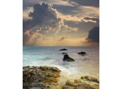 海面自然风光摄影图片