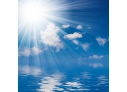 阳光与水面高清图片