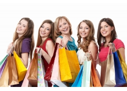 时尚购物外国美女高清图片