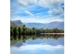 美丽湖泊风景摄影图片