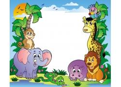 非洲动物矢量素材