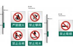 安全警示牌矢量模板素材