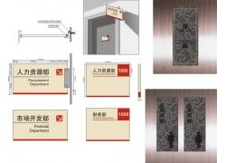 公司门牌设计矢量模板素材
