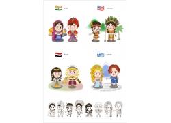 卡通矢量小人物素材图片
