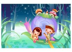 可爱卡通儿童插画图片