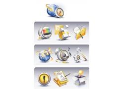立体图标按钮素材图片