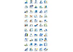 立体电脑科技图标素材图片