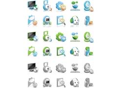立体电脑图标按钮素材图片