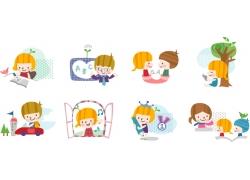 矢量卡通儿童插画图片