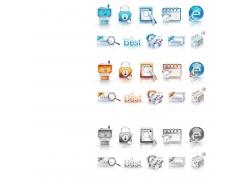 电脑图标按钮素材图片