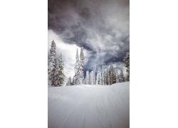 自然雪景摄影图片
