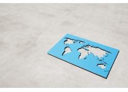 镂空的世界地图摄影图片素材