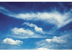 蔚蓝天空白云