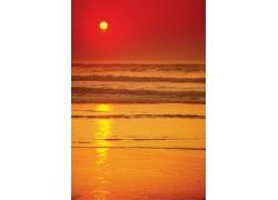 美丽大海黄昏美景