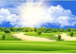自然绿色风景图片