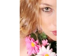 鲜花与时尚美女摄影图片图片