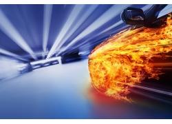 火焰汽车图片素材