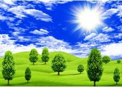 绿色风景素材