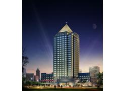 高楼大厦夜景3D效果图