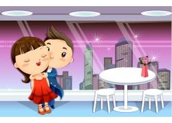情节人卡通情侣图片