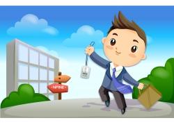 职业男性卡通插画图片