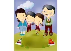 时尚卡通家庭图片