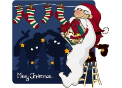 圣诞老人卡通画图片