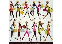时尚购物女孩图片