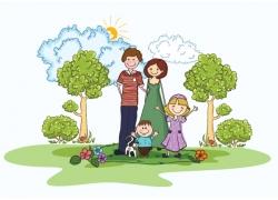 家庭人物图片