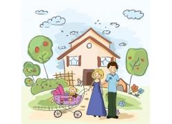 卡通家庭图片