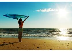 沙滩美女模特摄影