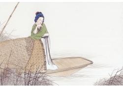 草船上的女人