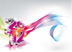 2012雪花立体字