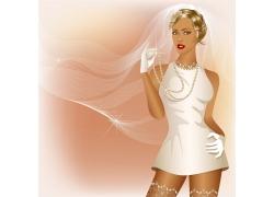 矢量婚礼新娘