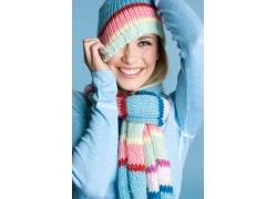 时尚冬季女孩图片