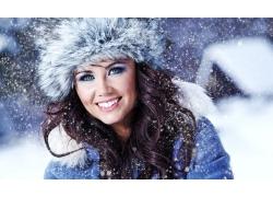 美丽的冬天女孩图片