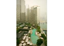 海边城市高楼摄影图片