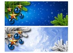 圣诞节横幅背景