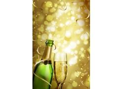 金色香槟背景图片