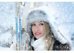 冬季女孩摄影图片