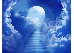 云彩与阶梯月亮