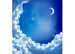 蓝天白云与星空