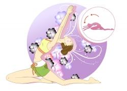 练瑜珈的女孩图片