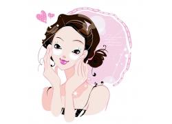 化妆的可爱女孩图片