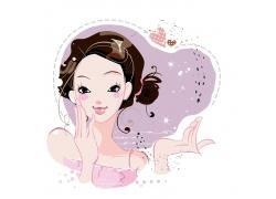 可爱卡通美女图片